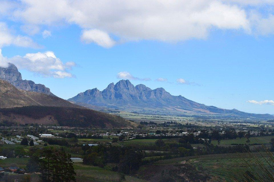 Franschhoek, South Africa, Western Cape, Wine, Mountain